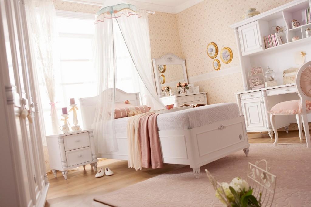 cilek romantic kinderbett bett 90x190cm mit bettkasten kinderzimmer wei kids teens betten. Black Bedroom Furniture Sets. Home Design Ideas