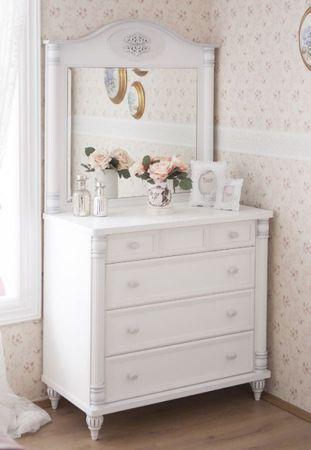 Cilek ROMANTIC Kommode mit Spiegel Anrichte Sideboard Weiß – Bild 1
