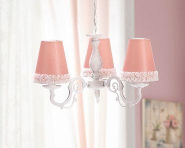 Cilek ROMANTIC Deckenlampe Lampe Wandlampe Weiß/Rosa – Bild 2