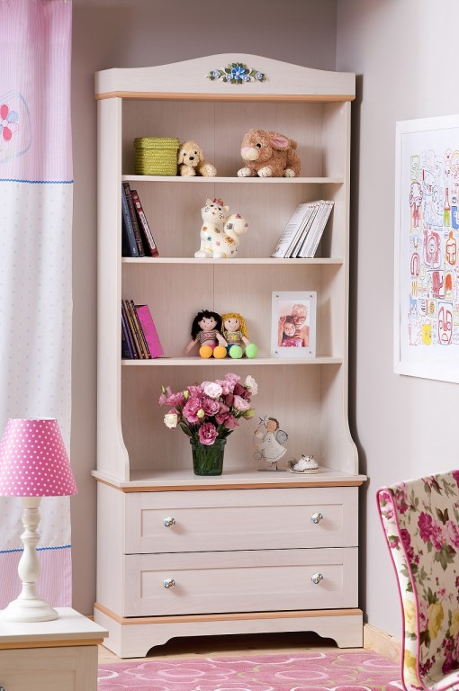 cilek flora b cherregal regal standregal kinderzimmer birke hell kids teens regale kommoden. Black Bedroom Furniture Sets. Home Design Ideas