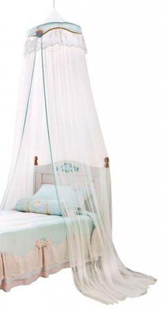 Cilek FLORA Himmel für Kinderbetten Weiß/Hellblau – Bild 1