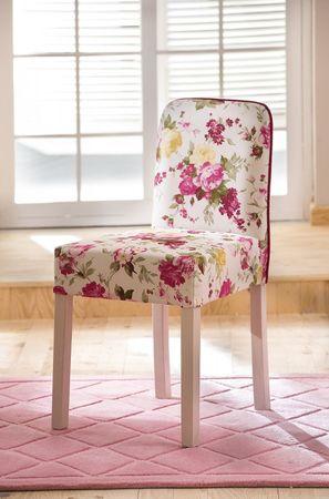 Cilek FLORA Stuhl Kinderstuhl Schminkstuhl Schreibtischstuhl Weiß/Rosa – Bild 1