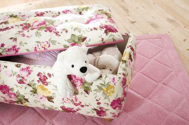 Cilek FLORA Truhe Hocker Sitzhocker Kinderzimmer Weiß/Rosa – Bild 2