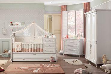 Cilek ROMANTIC BABY Babybett XL Bett Kinderbett Kinderzimmer Weiß – Bild 7