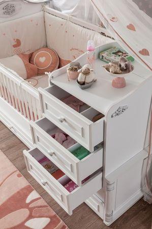 Cilek ROMANTIC BABY Babybett XL Bett Kinderbett Kinderzimmer Weiß – Bild 4
