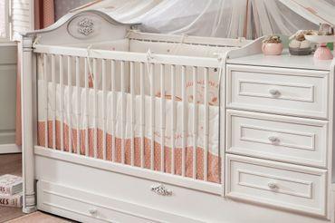 Cilek ROMANTIC BABY Babybett XL Bett Kinderbett Kinderzimmer Weiß – Bild 3