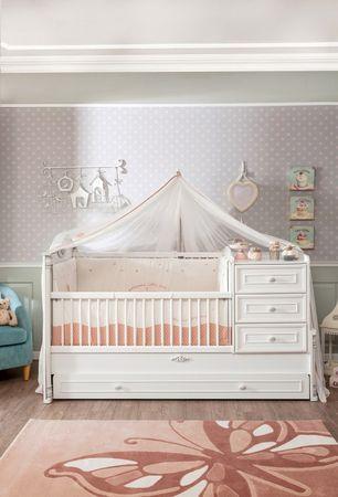 Cilek ROMANTIC BABY Babybett XL Bett Kinderbett Kinderzimmer Weiß – Bild 1