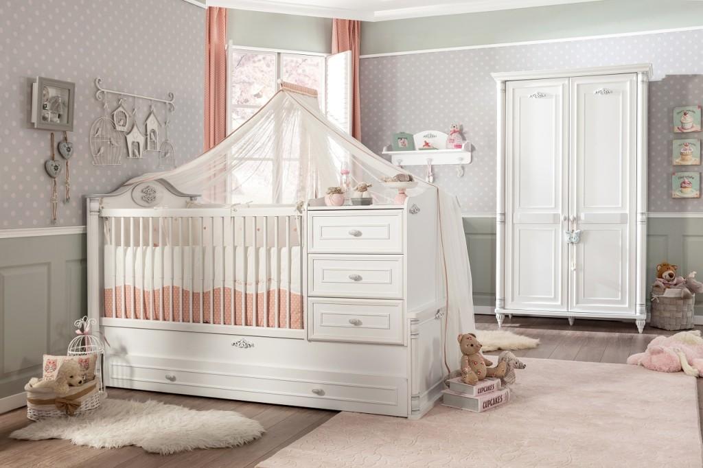 cilek romantic baby himmel f r kinderbett babybett wei kids teens zubeh r accessoires. Black Bedroom Furniture Sets. Home Design Ideas