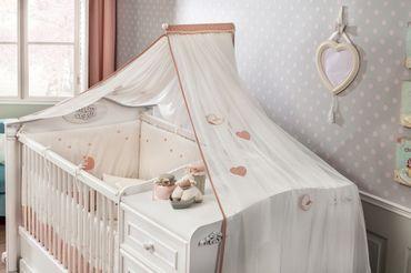 Cilek ROMANTIC BABY Himmel für Kinderbett/Babybett Weiß – Bild 1