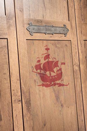 Cilek PIRATE 8 Kinderzimmer Set Komplettset Kinder Spielzimmer Piraten Braun – Bild 14