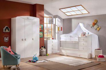 Cilek BABY COTTON 4 Babyzimmer Kinderzimmer Set Komplettset Spielzimmer Weiß – Bild 1