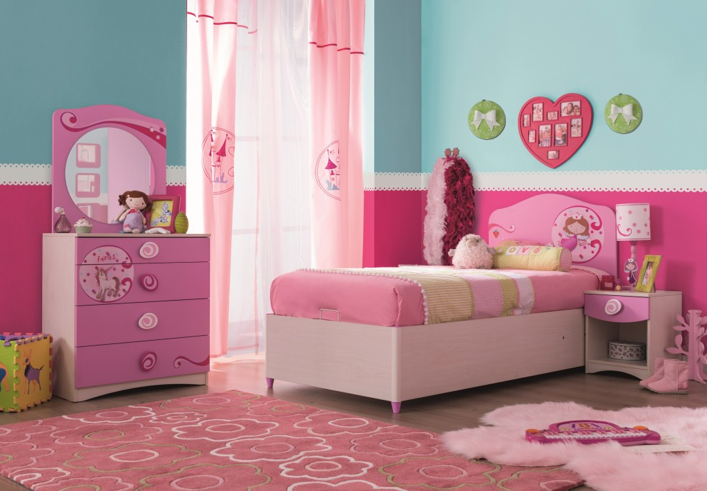 cilek princess 5 kinderzimmer set komplettset schlafzimmer spielzimmer wei rosa kids teens. Black Bedroom Furniture Sets. Home Design Ideas