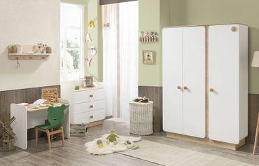 Cilek NATURA BABY 1 Kinderzimmer Set Babyzimmer Kinder Komplettset Weiß / Natur – Bild 1