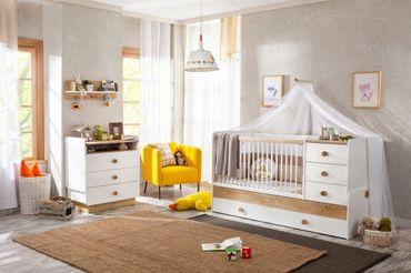 Cilek NATURA BABY 3 Kinderzimmer Set Babyzimmer Kinder Komplettset Weiß / Natur – Bild 1