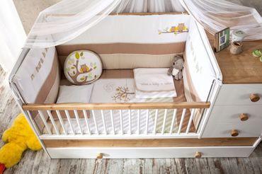 Cilek NATURA BABY 4 Kinderzimmer Set Babyzimmer Kinder Komplettset Weiß / Natur – Bild 7