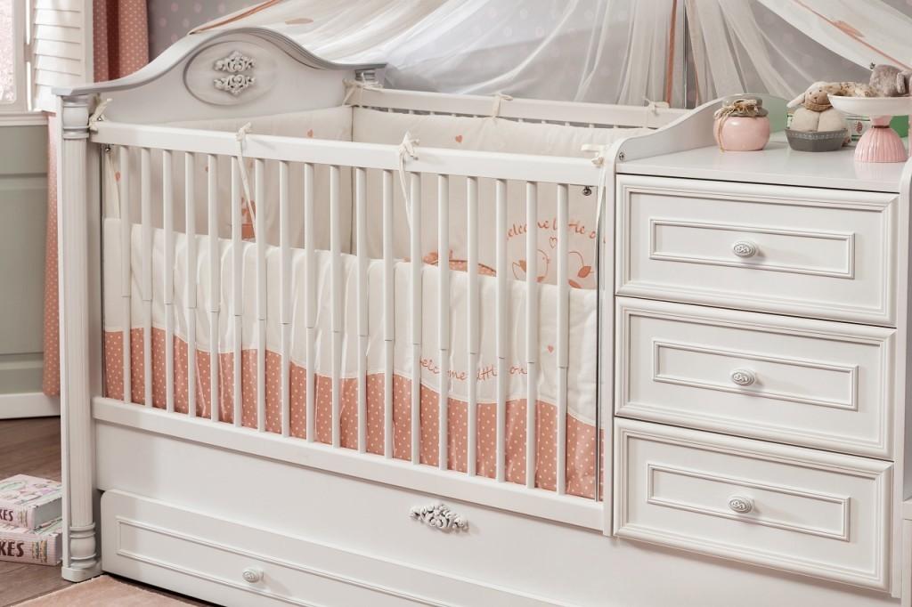cilek romantic baby babybett bett kinderbett kinderzimmer wei eching. Black Bedroom Furniture Sets. Home Design Ideas