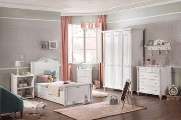 Cilek ROMANTIC 3 Kinderzimmer Set Komplettset Spielzimmer Weiß – Bild 1