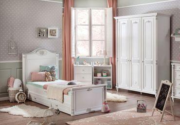 Cilek ROMANTIC 4 Kinderzimmer Set Komplettset Spielzimmer Weiß – Bild 1