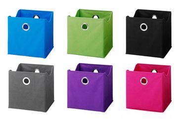 ACCESSORIES Faltboxen 9 Stück Aufbewahrungsboxen verschiedene Farben – Bild 1