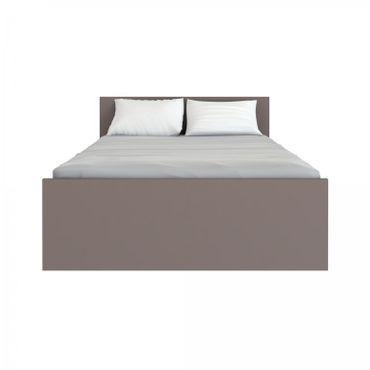 Bettgestell NAIA Bett 140 x 190 cm Mokka Hochglanz – Bild 2