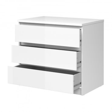 Kommode NAIA Anrichte Sideboard Schlafzimmer Weiß Hochglanz – Bild 2