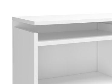 Bettgestell NAIA Bett 160 x 200 cm Schlafzimmer Weiß Hochglanz – Bild 5