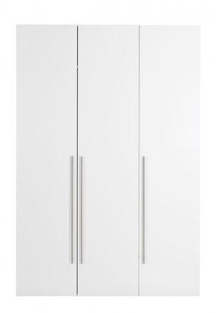Kleiderschrank MAGNUM Schrank Türenschrank Weiß Hochglanz – Bild 1