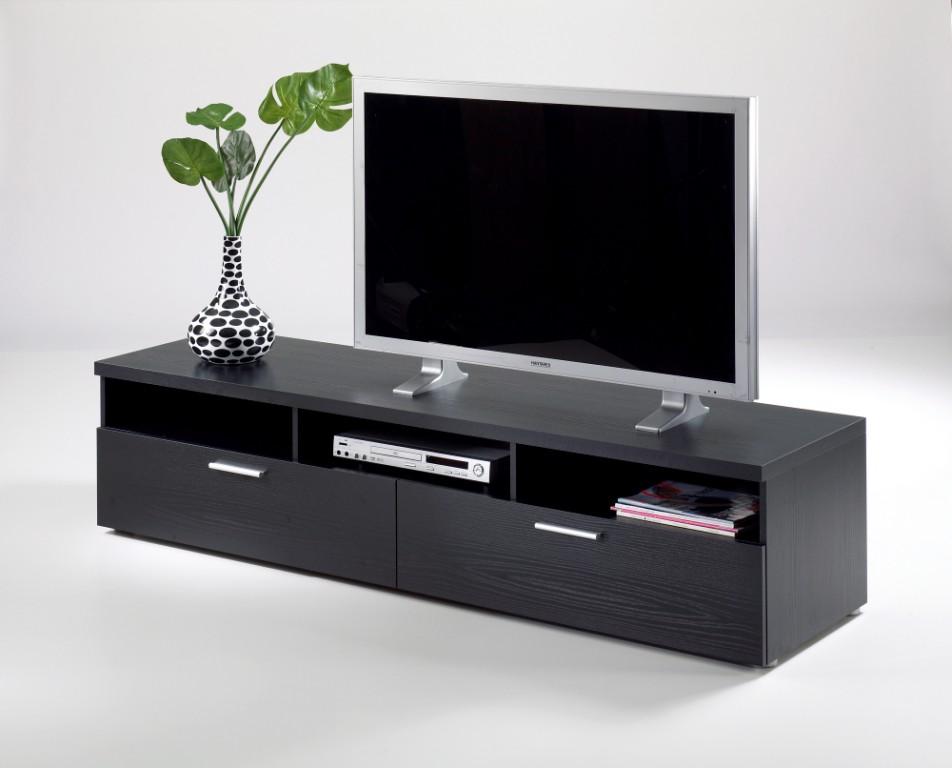 tv m bel napoli lowboard fernsehm bel schwarz. Black Bedroom Furniture Sets. Home Design Ideas