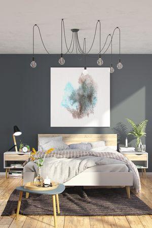 Bettgestell OSLO Bett 180 x 200 cm Weiß / Eiche Struktur – Bild 5