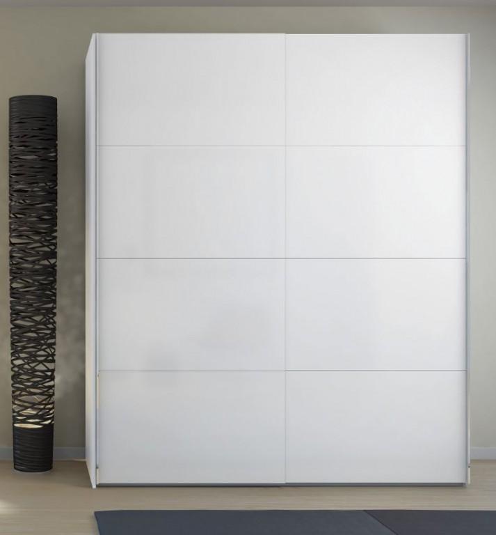 Verona Schiebetürenschrank 182 x 220 cm Weiß Hochglanz | Günstig ...