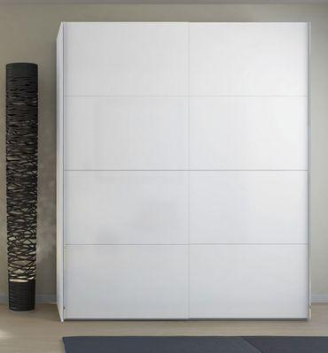 Kleiderschrank FIRENZE Schrank Schiebetürenschrank Schlafzimmer Weiß Hochglanz – Bild 1