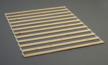 ACCESSORIES Lattenrost 140 x 190 cm Lattenrahmen Rolllattenrost Kiefer – Bild 1