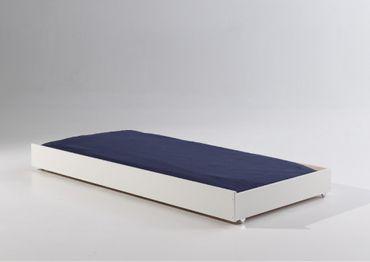 Bettschublade für Einzelbett Pino Weiß