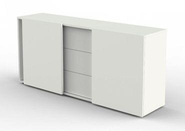 FRESH Sideboard Aktenschrank Büroschrank Weiß – Bild 1