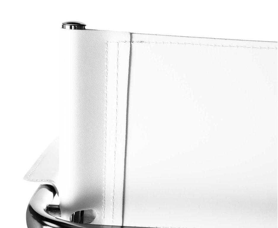 Denver Freischwinger Klassiker  Besucherstuhl Leder weiß