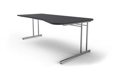 ARTLINE Freiformtisch 195x80/100cm Schreibtisch Bürotisch Arbeitstisch Anthrazit – Bild 2