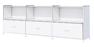 ARTLINE Sideboard Aktenschrank 2OH Büroschrank Weiß – Bild 1