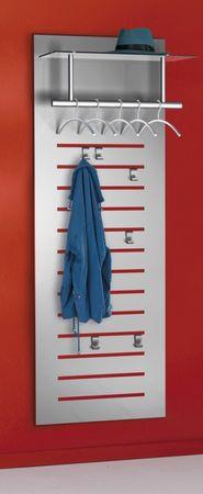 TEC-ART Design-Garderobe Wandgarderobe Garderobe Garderobenpaneel Alusilber