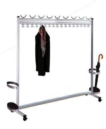 MULTILINE Reihengarderobe Kleiderständer Rollgarderobe Garderobe Aluminium