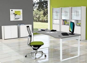 FRESH TYP2 Komplettbüro Büro Komplettset Office Weiß/Grafit – Bild 1