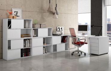 FRESH TYP5 Komplettbüro Büro Komplettset Office Weiß – Bild 1