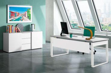 FRESH TYP6 Komplettbüro Büro Komplettset Schreibtisch Sideboard Office Weiß/Grafit – Bild 1