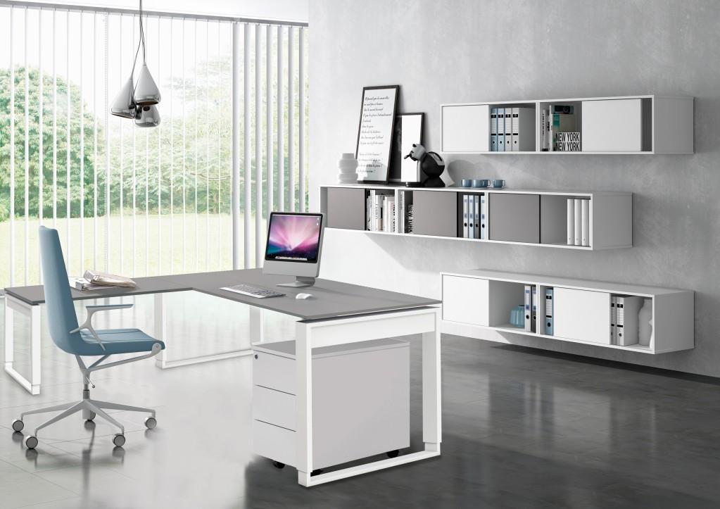 Fresh Typ7 Komplettbüro Büro Komplettset Winkelkombination Office Weiß