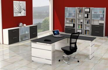 FORM 4 TYP1 Komplettbüro Büro Komplettset Office Weiß/Anthrazit – Bild 1
