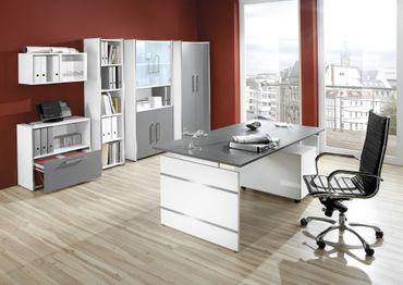FORM 4 TYP2 Komplettbüro Büro Komplettset Office Weiß/Grafit – Bild 1