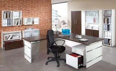 FORM 4 TYP4 Komplettbüro Büro Komplettset Office Weiß/Wenge – Bild 1