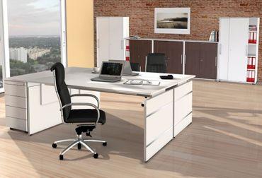 FORM 4 TYP5 Komplettbüro Büro Komplettset Office Weiß/Wenge – Bild 1