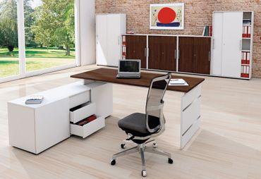 FORM 4 TYP7 Komplettbüro Büro Komplettset Office Weiß/Wenge – Bild 1