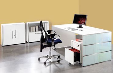 LUGANO TYP3 Komplettbüro Büro Komplettset Office Weiß – Bild 1