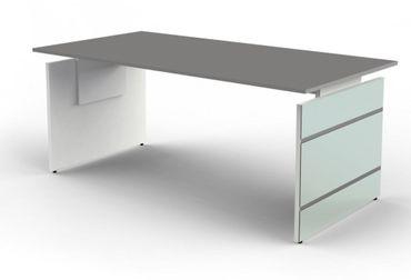 LUGANO TYP5 Komplettbüro Büro Komplettset Office Weiß/Grafit – Bild 2